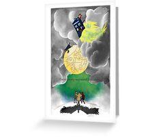 Gallifreyan moon Greeting Card