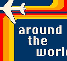 around the world retro by maydaze