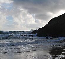 Moody beach scene by Kelly Eaton