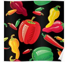 Hot Peppers Poster
