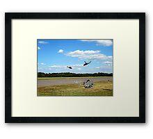 sky soldiers cobra demonstration Framed Print