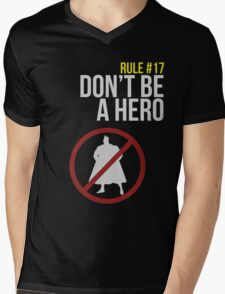 Zombie Survival Guide - Rule #17: Don't Be A Hero Mens V-Neck T-Shirt
