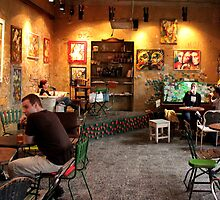 Budapest - People Enjoying Szimpla Kert  by rsangsterkelly