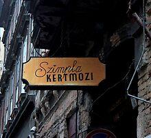 Budapest - Sign Outside Szimpla Kert by rsangsterkelly
