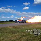 fire breathing jet semi by LoreLeft27