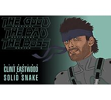 The Good, The Bad and The Boss - A Metal Gear Movie (Snake) Photographic Print