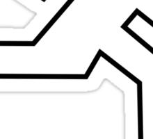 Shingeki no Kyojin - Emergency (White fill) Sticker