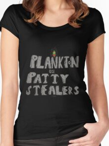 Plankton and the Patty Stealers Women's Fitted Scoop T-Shirt