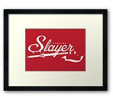 Vampire Slayer - RED Framed Print