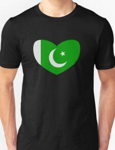 Heart Shaped Flag of Pakistan T-Shirt