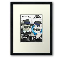 The Blues Ponies Framed Print