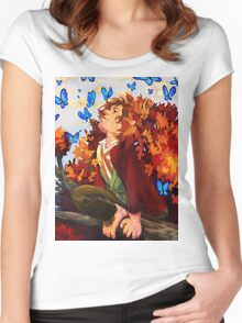 Bilbo and Butterflies Women's Fitted Scoop T-Shirt