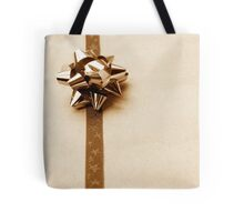Gift Wrapped Vintage Bow and Ribbon on Plain Paper Tote Bag