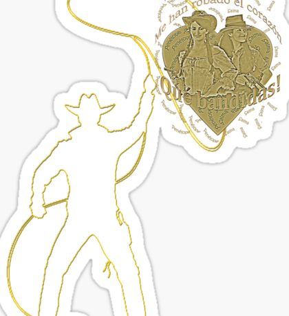 Roping my heart Sticker