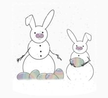 Easter Snow Bunnies Kids Clothes