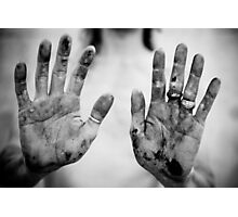Bloody Hands Photographic Print