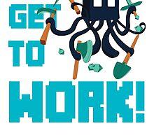 Mincraft squid by D-Vega