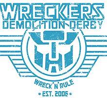 Wreck 'n' Rule - Blue by Meg Downey