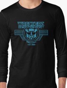 Wreck 'n' Rule - Blue Long Sleeve T-Shirt