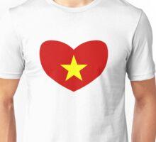 Heart Shaped Flag of Vietnam Unisex T-Shirt