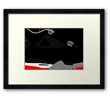 Made in China IV Black/Cement Size US 9.5 - Pop Art, Sneaker Art, Minimal Framed Print