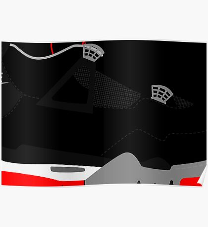 Made in China IV Black/Cement Size US 9.5 - Pop Art, Sneaker Art, Minimal Poster