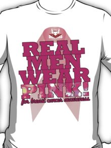 Real Men Wear Pink Wonky Lettering T-Shirt