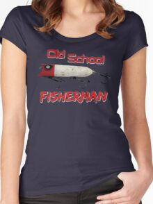 Old School Fisherman T-shirt Women's Fitted Scoop T-Shirt