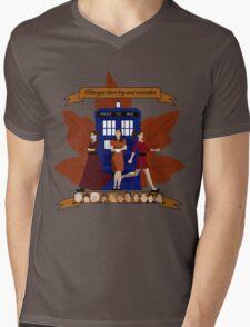 Clara and The Doctors Mens V-Neck T-Shirt