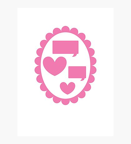 Love heart speaking on a cameo Photographic Print