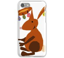 Funny Cool Easter Buny with Decorated Eggs on Ears iPhone Case/Skin