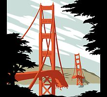 Visit The Pacific Print by Crocktees