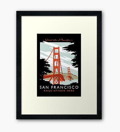 Visit The Pacific Print Framed Print