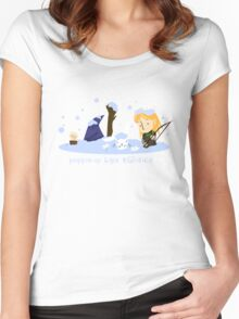 Poppin up like Daisies!  Women's Fitted Scoop T-Shirt