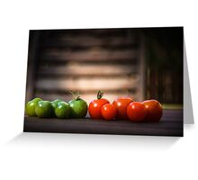 colors of tomatoes Greeting Card
