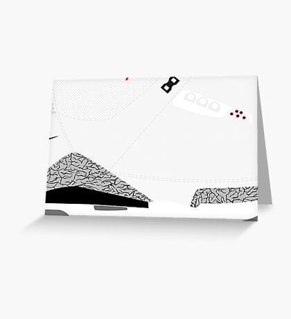 Made in China III White/Cement Size US 9.5 - Pop Art, Sneaker Art, Minimal Greeting Card