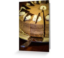 chocolate torte with spoon Greeting Card