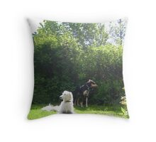 Summer & Joseph  Throw Pillow