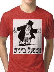 Yiddish retro comic cartoon  Tri-blend T-Shirt