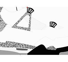 Made in China IV White/Cement Size US 9.5 - Pop Art, Sneaker Art, Minimal Photographic Print