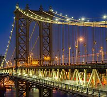Manhattan Bridge, Study 2 by Randy  LeMoine