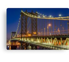 Manhattan Bridge, Study 2 Canvas Print