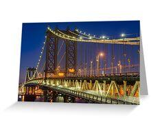 Manhattan Bridge, Study 2 Greeting Card