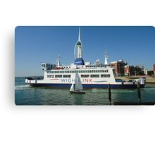 Portsmouth Harbour Gunwharf Quay Spinnaker Tower Ship Sail Boats Canvas Print