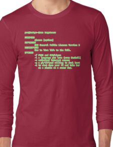 man happiness (white outline) Long Sleeve T-Shirt