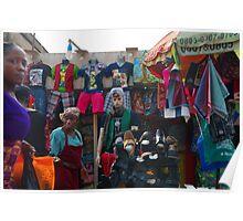 Lagos Street Shops Poster