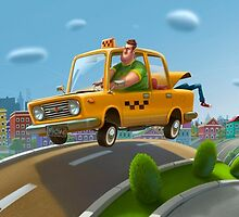 Crazy Taxi by Roman Shipunov