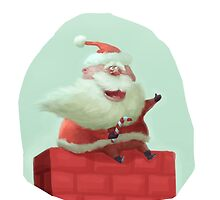 Flying Santa by achbirds