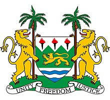 Coat of Arms of Sierra Leone  Photographic Print