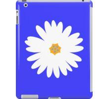 white daisy blue iPad Case/Skin